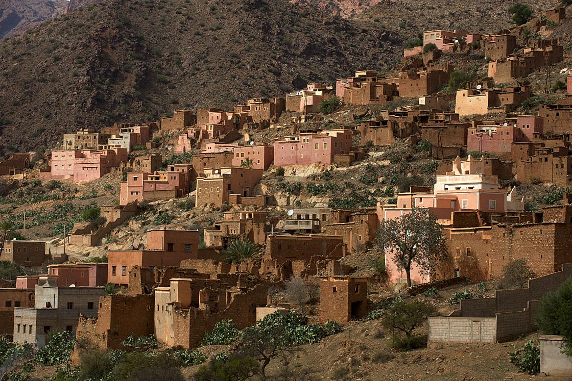 Village berbère où se cultive le safran